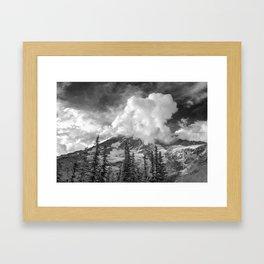 Rainier Obscured Framed Art Print