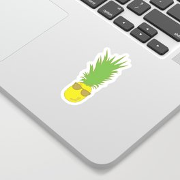 Pineapple with Shades Sticker