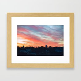 Winter sunset in Rockport Framed Art Print
