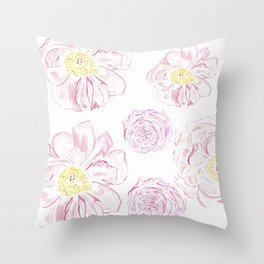 Abstract Flowers #society6 #buyart Throw Pillow