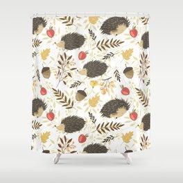Cute hedgehogs Shower Curtain