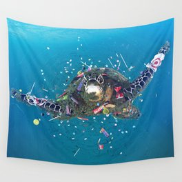 Trash Turtle Wall Tapestry