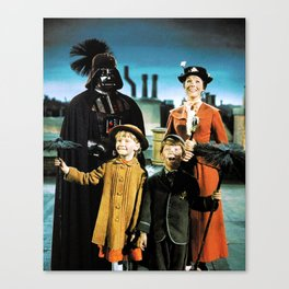 Darth Vader in Mary Poppins Canvas Print