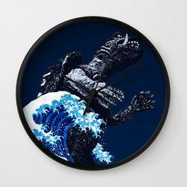 The Great Gamera Wave Off of Kanagawa Wall Clock