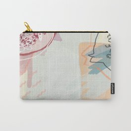 Pomegranate Fruit Print Carry-All Pouch