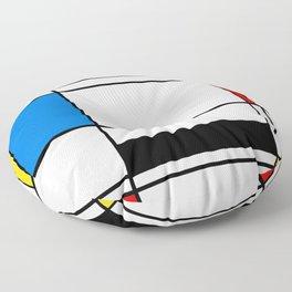 Abstract Mondriaan style abstract pattern Floor Pillow