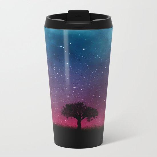 Tree Space Galaxy Cosmos Metal Travel Mug