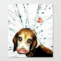 """beagle Canvas Prints featuring """"Beagle"""" by AntiManifesto"""