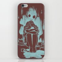 inner demons iPhone & iPod Skins featuring Demons by Jenn St Onge Illustration
