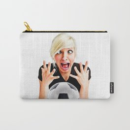 Crazy Female Soccer Fan Carry-All Pouch