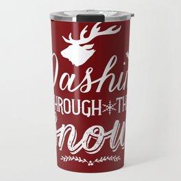 Dashing- Red Travel Mug