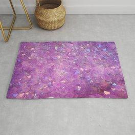Sparkly Pinky Purple Aura Crystals Rug