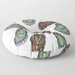 Oysters Pattern Floor Pillow