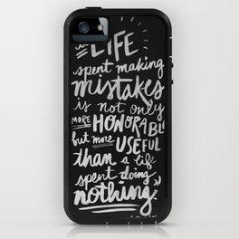 -George Bernard Shaw (black) iPhone Case
