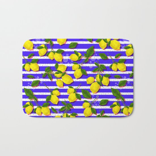 Pattern of lemons II Bath Mat