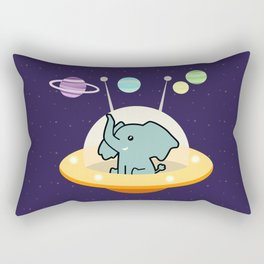 Astronaut elephant: Galaxy mission Rectangular Pillow