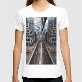 Chicago Reflection from a Rooftop T-shirt