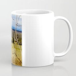 Cattle ranch overlooking the Blue Ridge Mountains Coffee Mug