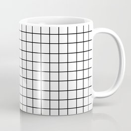Grid (Black/White) Coffee Mug