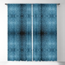 Beautiful Baby blue glitter sparkles Blackout Curtain
