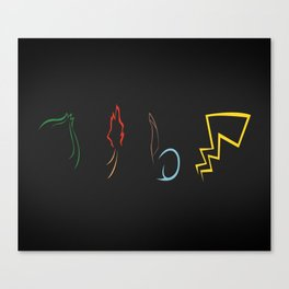 Starters in Black Canvas Print