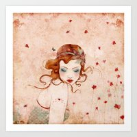 lolita Art Prints featuring Lolita by Minasmoke