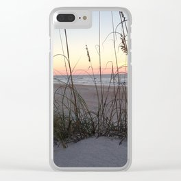 Sandy Dusk Clear iPhone Case