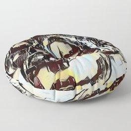 Metal Paper Skull Floor Pillow