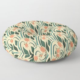 a lot of flowers for art deco Floor Pillow