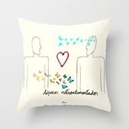 Tópicos retroalimentados Throw Pillow