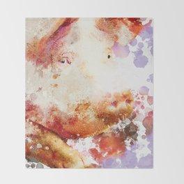 Watercolor Pig, Pig Painting, Pig Decor, Pig Art, Pigs Design Throw Blanket