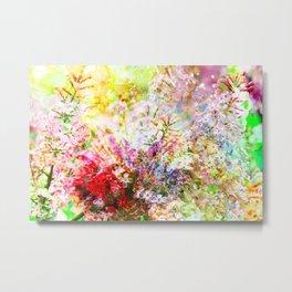 Lilac in the rain Metal Print