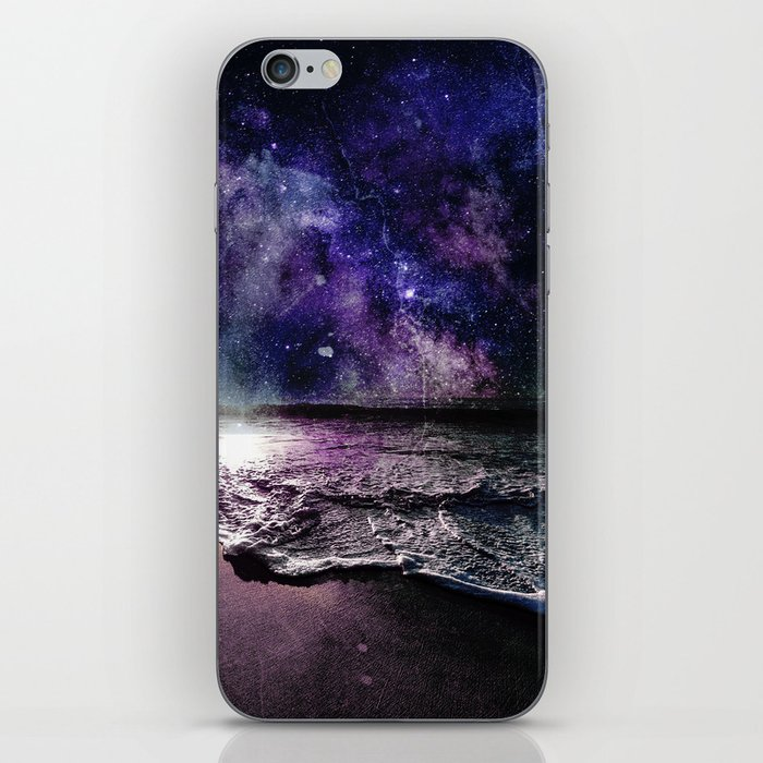 Starry Night Ocean iPhone Skin