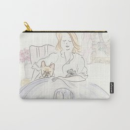 French Bulldog, Kitty Cat and Classic Chic in Paris Carry-All Pouch