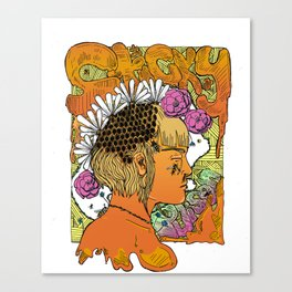 sticky colored Canvas Print