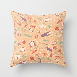 Read books pattern Throw Pillow