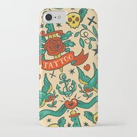 tattoos iPhone & iPod Cases featuring Tattoos by Illuminany