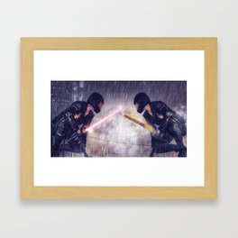 sometimes you gotta fight yourself for yourself Framed Art Print