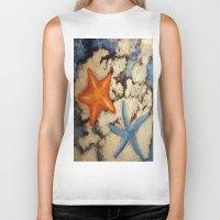 starfish Biker Tanks featuring Starfish by Michael Anthony Alvarez