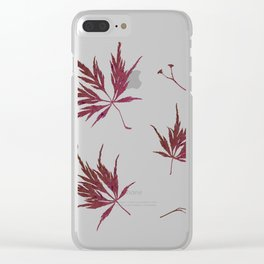 Autumn Acer Clear iPhone Case