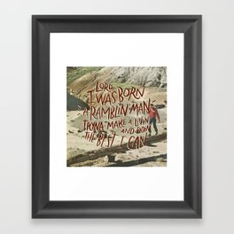 Ramblin' Man Framed Art Print
