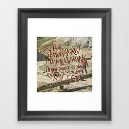 Ramblin' Man Framed Art Print