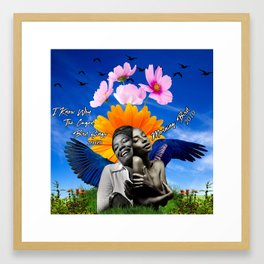 I Know Why The Caged Bird Sings Morning Bird Framed Art Print