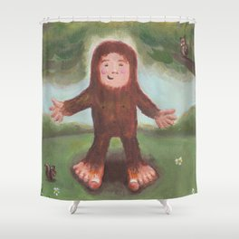 I'm the Funnest - Baby Bigfoot Shower Curtain