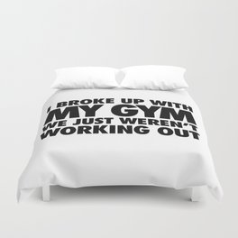 GYM Relationship  Duvet Cover