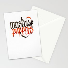 Master of Puppets - Blackletter Calligraphy Stationery Cards