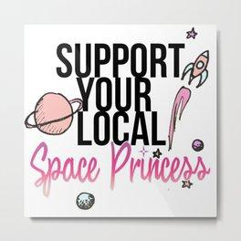 Space Princess Metal Print