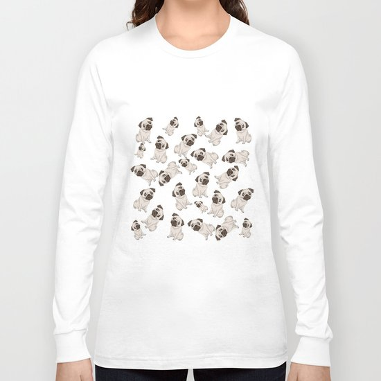 Pug Pattern  Long Sleeve T-shirt
