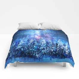 Forest under the Starlight Comforters