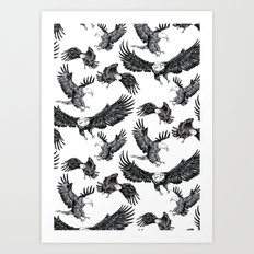 Eagles Pattern Art Print